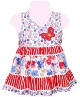 Infancy - Sleeveless Floral Printed Frock