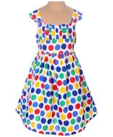 SAPS - Sleeveless Frock With Polka Dots