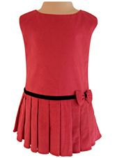 Faye - Pleated Deep Magento Cord Dress