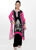 Girlish - Kirochia Laces Work Gorgette  Salwar Kameez With Dupatta