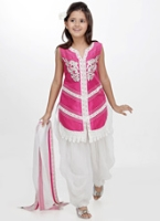 Girlish - Dhoti Style Salwar Suit Set With Dupatta