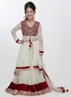 Girlish - Full Sleeves Choli And Lehenga Set With Dupatta