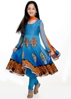 Girlish - Full Sleeves Kurta And Salwaar Set With Dupatta