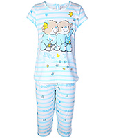 Bed Bugs - Striped Teddy Print Night Suit