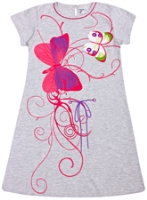 Bed Bugs - Half Sleeves Butterfly Print Nighty