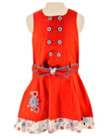 Nauti Nati - Sleeveless Frock With Embroidery