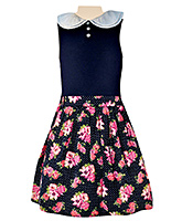 Nauti Nati - Sleeveless Skirt Style Frock With Belt