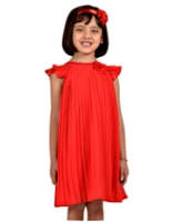 Nauti Nati - French Sleeves Pleated Frock