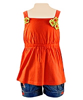 Nauti Nati - Sleeveless Top And Denim Shorts Set