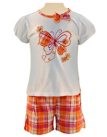 Nauti Nati - Butterfly Printed Top With Checked Shorts