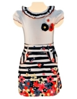 Nauti Nati - Cap Sleeves Printed Skirt Style Dress