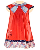 Nauti Nati - French Sleeves Frock With Embroiderey