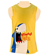 Nauti Nati - Sleeveless T-Shirt With Shark Print