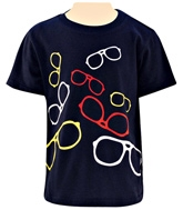 Nauti Nati - Half Sleeves T-Shirt With Specs Print