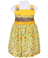 SAPS - Sleeveless Frock With Flower Print