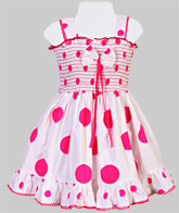 SAPS - Sleeveless Smocked Frock With Dots
