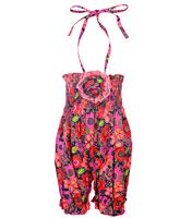 Little Darling - Floral Print Balloon Romper