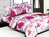 Weaves Pink Double Bed Sheet - WCELB 032