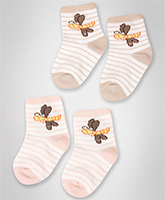 Cute Walk -  Socks With Teddy Print