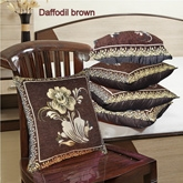 HandloomWala Velvetee Soft Brown Cushion Cover Set - CC 053