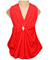 SAPS - Sleeveless Party Frock With Diamond Brooch