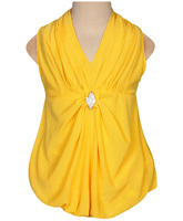 SAPS - Sleeveless Party Frock With Gathered Pleats