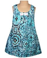 Little Darling - Sleeveless Printed A Line Dress