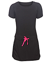 Little Darling - Short Sleeves Black Dress