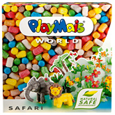 World Safari Modelling Material 3 Years+, 1000 Pieces, Safe 100% Biodegradable Mater...