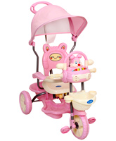 Fab N Funky - Pink Baby Tricycle With Rabbit Design
