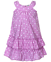 Saps - Sleeveless Double Layered Polka Dot Frock