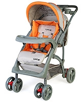 Luv Lap - Baby Stroller Sports T281 Grey - 0 Months+
