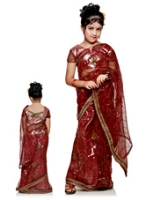 Bhartiya Paridhan - Designer Net Sari With Work