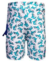 Kid Studio - White Shark Print Shorts