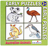 Buy Early Puzzles - 4 Shaped Australian Animals