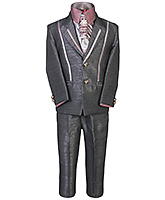 SAPS - Party Suit With Diamond Brooch On Tie
