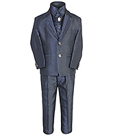 SAPS - Party Wear Suit With Shimmer Satin Shirt