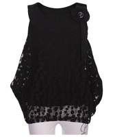 SAPS - Sleeveless Crochet Net Scoop Neck Top
