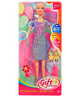 Stylish And Colorful Doll 3 Years +, 29 cm, Gift Wrap Doll with hair clip set ...