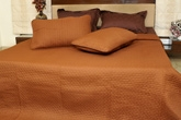 Story Premium Double Bed Cover - Choco B1