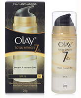 Olay Total Effects 7 In 1 Anti Ageing Cream Plus Serum Duo