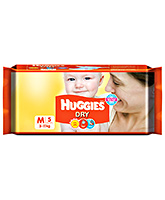 Huggies Dry Diapers Medium - 5 Pieces