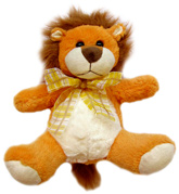 Soft Orange Lion Soft Toy 3 Years+, Cuddly and friendly soft toy