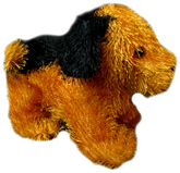 Black and Brown Hairy Dog 3 Years+, Cute little dog soft toy