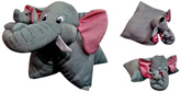 Tickles - Elephant Pillow Cushion Cum Soft Toy