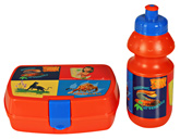 Lunch Box And Water Bottle Set Blue Bottle 250 Ml Liquid, Lunch Box 15.2x11x5.5 Cm, Fabu...