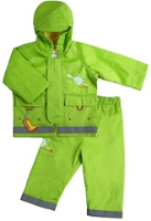 Kushies Baby - Green Rain Jacket and Pant Set