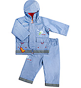 Kushies Baby - Blue Rain Jacket and Pant Set