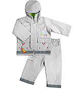 Kushies Baby - Silver Rain Jacket and Pant Set
