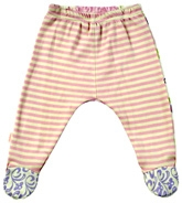 Kushies Baby - Strip Print Footed Leggings
